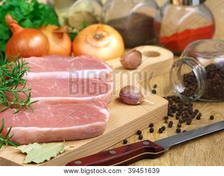 Pork On A Cutting Board