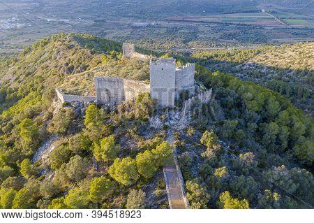 Castle Of Santa Magdalena De Pulpis Province Of Castellon Spain.