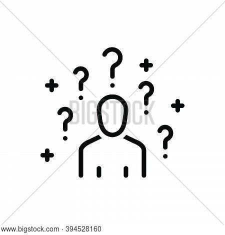 Black Line Icon For Ask Help Inquir Support Ask-for Inquire Ask-about Quiz Consult Person Gesture Qu