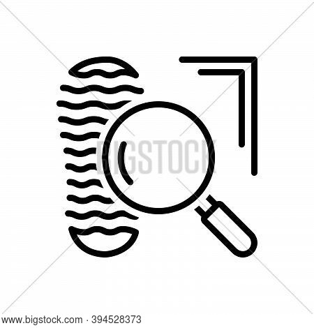 Black Line Icon For Clue Proof Confirmation Mystery Footprint Suspect Evidence Investigate Testimony