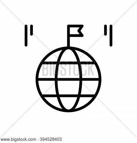 Black Line Icon For Country Land Global Province Realm Field Region Zone Flag Kingdom Homeland Nativ