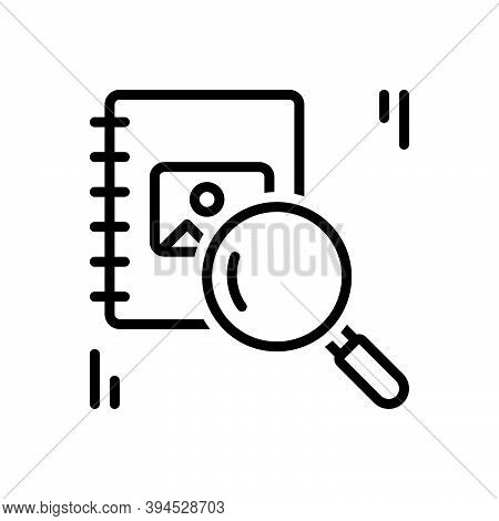Black Line Icon For Prior Earlier Investigation Previous Advance Former Ago Before Antecedent Anteri