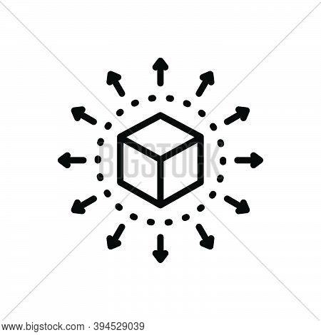 Black Line Icon For Distribute Distribution Direction Container Exchange Content Share Delivery Spre