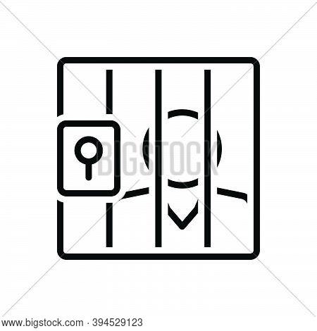 Black Line Icon For Prison Gel Lockup Penitentiary Imprisonment Gaol Defendant Respondent Jail Appel