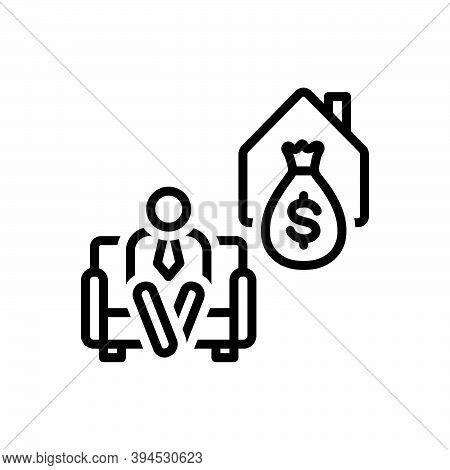 Black Line Icon For Retire Armchair Deposit Elderly Money Give-up-work Retirement Old-age Wealth Pen