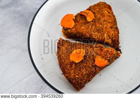 Plant-based Food,  Vegan Lentil Loaf With Carrots And Onions