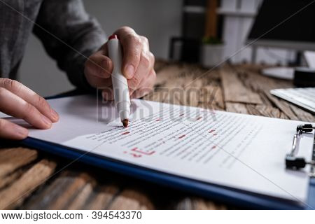 Script Proofread And Sentence Grammar Spell Check. Correct Mistakes