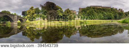 Panoramic View At The Castle In The Belgian City Bouillon In The Ardennes Region