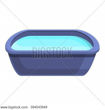 Foot Bath Basin Icon. Cartoon Of Foot Bath Basin Vector Icon For Web Design Isolated On White Backgr