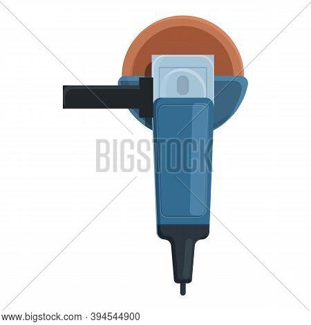Industry Grinding Machine Icon. Cartoon Of Industry Grinding Machine Vector Icon For Web Design Isol