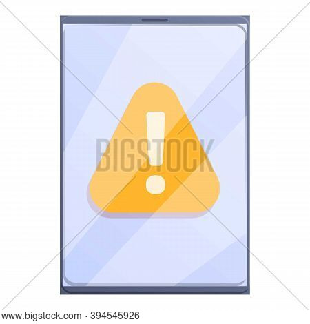 Error Update Tablet Icon. Cartoon Of Error Update Tablet Vector Icon For Web Design Isolated On Whit