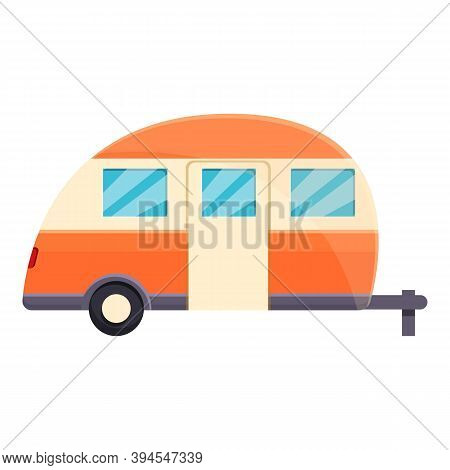 Camp Trailer Icon. Cartoon Of Camp Trailer Vector Icon For Web Design Isolated On White Background