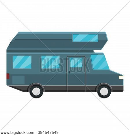 Modern Motorhome Icon. Cartoon Of Modern Motorhome Vector Icon For Web Design Isolated On White Back
