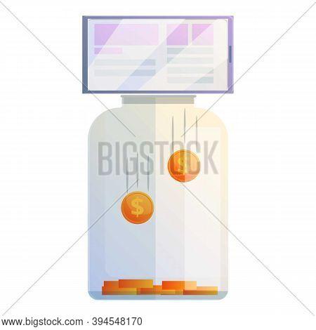 Jar Monetization Icon. Cartoon Of Jar Monetization Vector Icon For Web Design Isolated On White Back