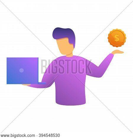 Freelancer Monetization Icon. Cartoon Of Freelancer Monetization Vector Icon For Web Design Isolated