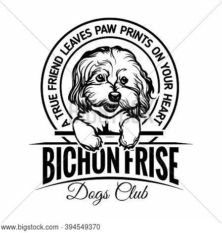 Bichon Frise Dog - Dog Happy Face Paw Puppy Pup Pet Clip Art K-9 Cop Police Logo Svg Png Clipart Vec