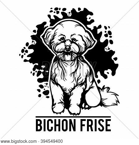 Bichon Frise - Dog Happy Face Paw Puppy Pup Pet Clip Art K-9 Cop Police Logo Svg Png Clipart Vector
