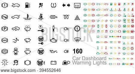 Car Dashboard Warning Lights. Comprehensive Guide To Dashboard Warning Lights. Warning Lights Icon V