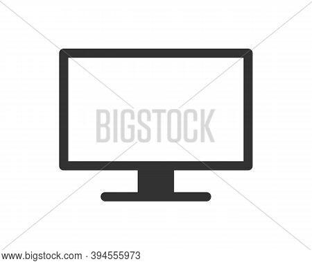 Monitor Screen Vector Icon. Television Panel Flat Symbol. Widescreen Tv Sign. Computer Desktop Displ
