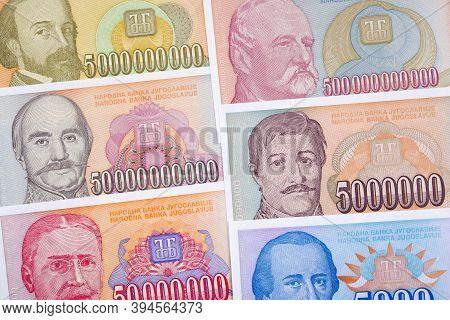 Old Yugoslavian Money - Dinar A Business Background