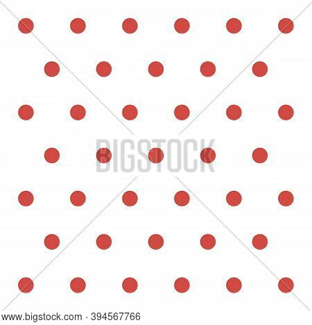 Christmas And New Year Pattern Polka Dots. Template Background In White And Red Polka Dots . Seamles