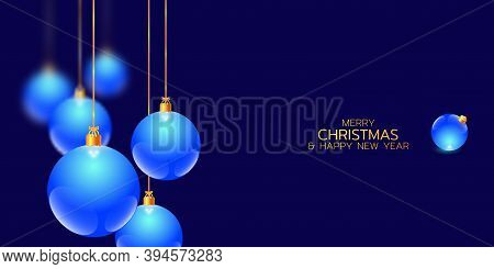 Merry Christmas And Happy New Year Illustration. Winter Holiday Vector Illustration. Festive Composi