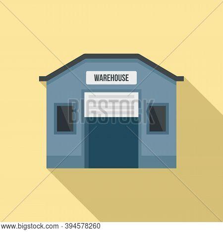 Storage Warehouse Icon. Flat Illustration Of Storage Warehouse Vector Icon For Web Design