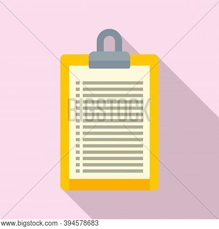 Storage Card List Icon. Flat Illustration Of Storage Card List Vector Icon For Web Design