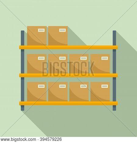 Storage Parcel Rack Icon. Flat Illustration Of Storage Parcel Rack Vector Icon For Web Design
