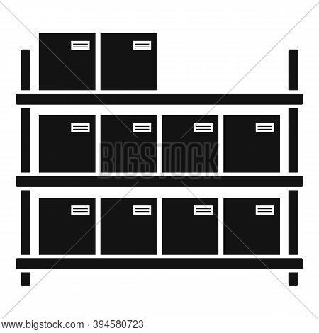 Storage Parcel Rack Icon. Simple Illustration Of Storage Parcel Rack Vector Icon For Web Design Isol