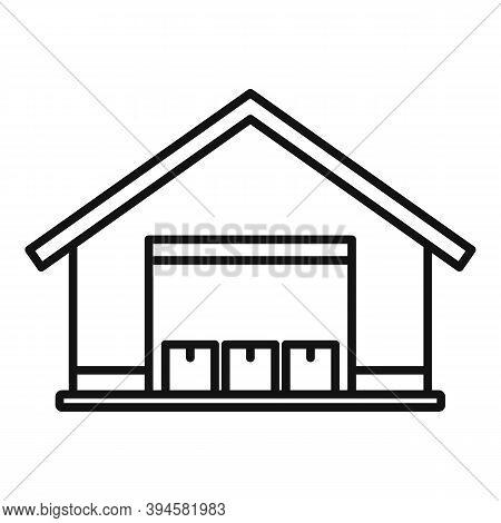 Storage Parcel Warehouse Icon. Outline Storage Parcel Warehouse Vector Icon For Web Design Isolated