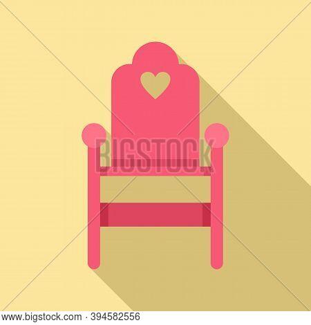 Wood Feeding Chair Icon. Flat Illustration Of Wood Feeding Chair Vector Icon For Web Design