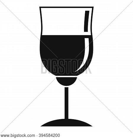 Wine Glassware Icon. Simple Illustration Of Wine Glassware Vector Icon For Web Design Isolated On Wh