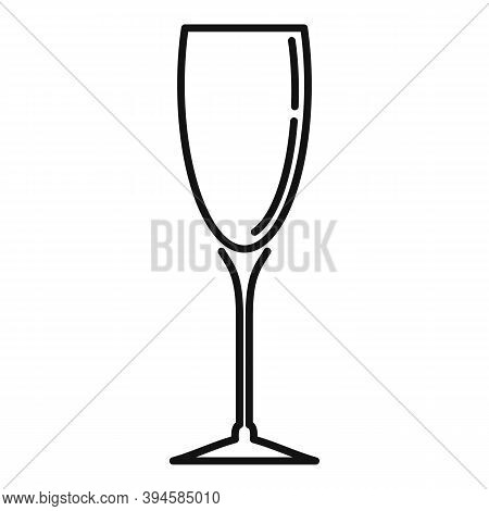 Champagne Glass Icon. Outline Champagne Glass Vector Icon For Web Design Isolated On White Backgroun