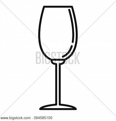 Winery Glassware Icon. Outline Winery Glassware Vector Icon For Web Design Isolated On White Backgro