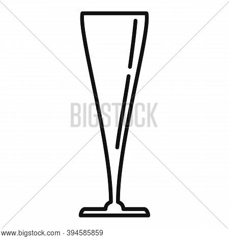 Bocal Wineglass Icon. Outline Bocal Wineglass Vector Icon For Web Design Isolated On White Backgroun