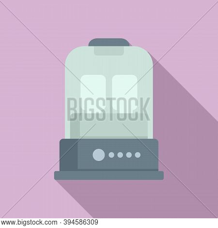 Milk Bottle Sterilizer Device Icon. Flat Illustration Of Milk Bottle Sterilizer Device Vector Icon F