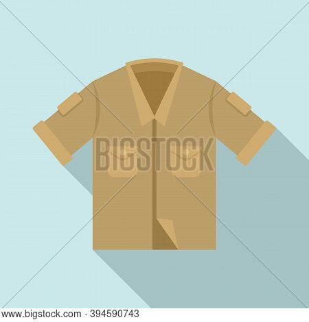 Safari Shirt Icon. Flat Illustration Of Safari Shirt Vector Icon For Web Design