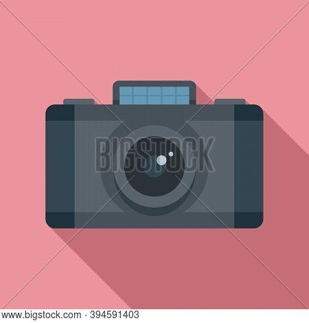 Safari Hunting Camera Icon. Flat Illustration Of Safari Hunting Camera Vector Icon For Web Design