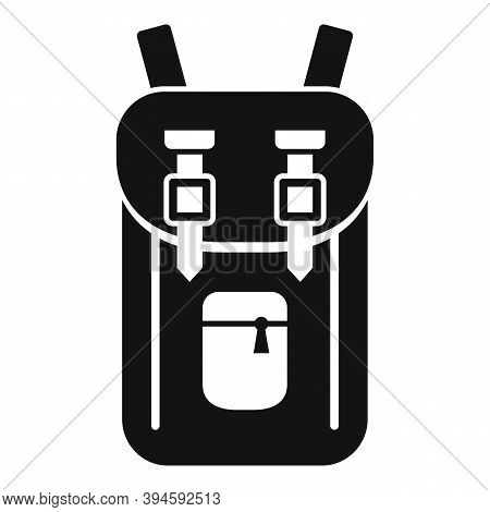 Safari Hunting Backpack Icon. Simple Illustration Of Safari Hunting Backpack Vector Icon For Web Des
