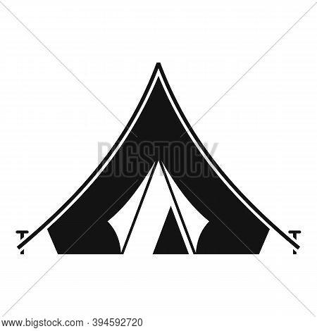 Safari Hunting Tent Icon. Simple Illustration Of Safari Hunting Tent Vector Icon For Web Design Isol