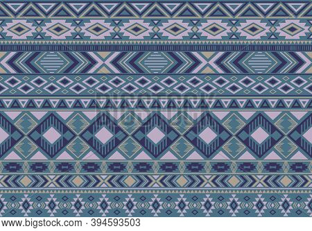 Boho Pattern Tribal Ethnic Motifs Geometric Seamless Vector Background. Chic Boho Tribal Motifs Clot
