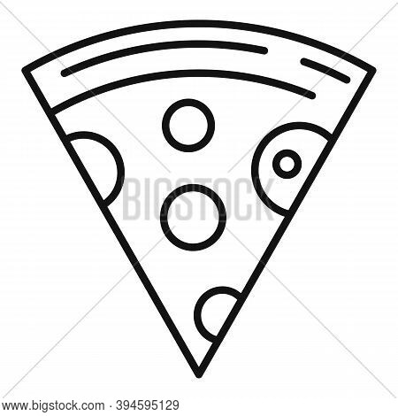 Pizza Sandwich Slice Icon. Outline Pizza Sandwich Slice Vector Icon For Web Design Isolated On White