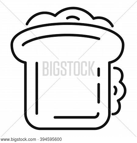 Lunch Sandwich Bar Icon. Outline Lunch Sandwich Bar Vector Icon For Web Design Isolated On White Bac
