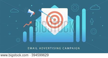Email Advertising Digital Marketing Campaign. Inbound And Outbound Business Strategy Advertisement.