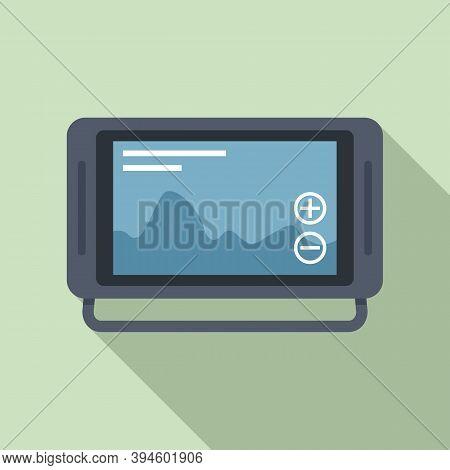 Echo Sounder Fathometer Icon. Flat Illustration Of Echo Sounder Fathometer Vector Icon For Web Desig