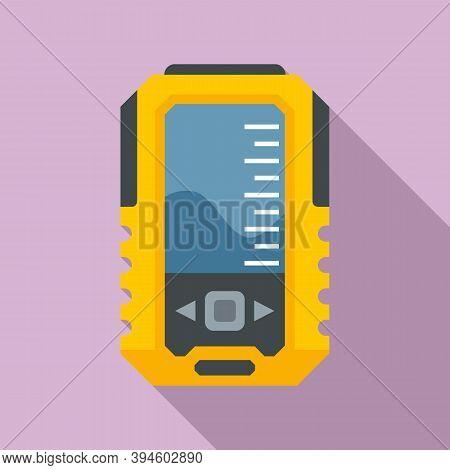 Fish Echo Sounder Icon. Flat Illustration Of Fish Echo Sounder Vector Icon For Web Design