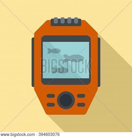 Display Echo Sounder Icon. Flat Illustration Of Display Echo Sounder Vector Icon For Web Design