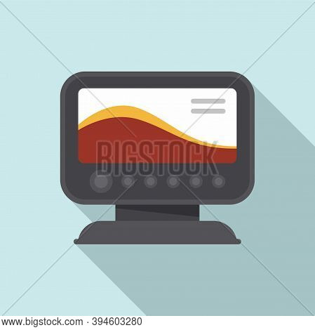 Diving Echo Sounder Icon. Flat Illustration Of Diving Echo Sounder Vector Icon For Web Design