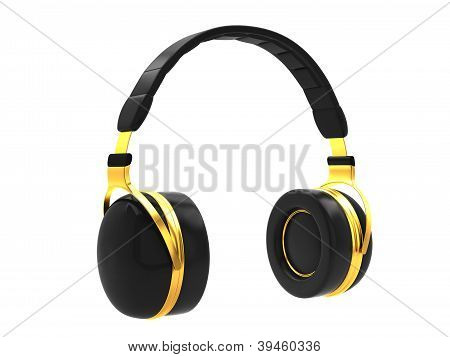 Black headphones